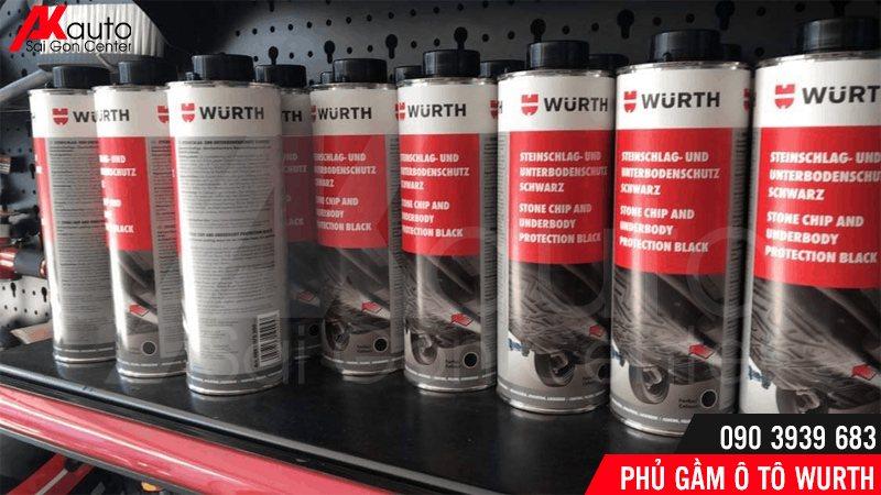 dung dịch phủ gầm ô tô wurth chính hãng