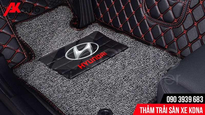 bề mặt thảm trải sàn xe hyundai kona