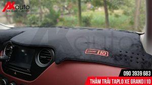 trải thảm taplo chống nóng cho xe grand i10