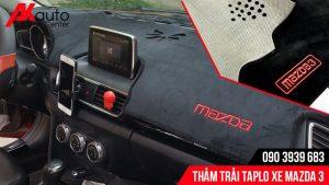 lắp thảm trải taplo xe Mazda 3 hcm