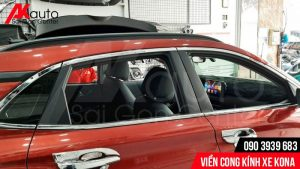 thanh viền cong kính xe Hyundai Kona