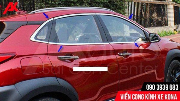 viền cong kính trang trí xe Kona