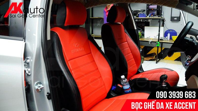 Mẫu ghế da Hyundai Accent phối màu