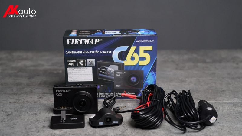 bộ sản phẩm camera hành trình Vietmap c62s