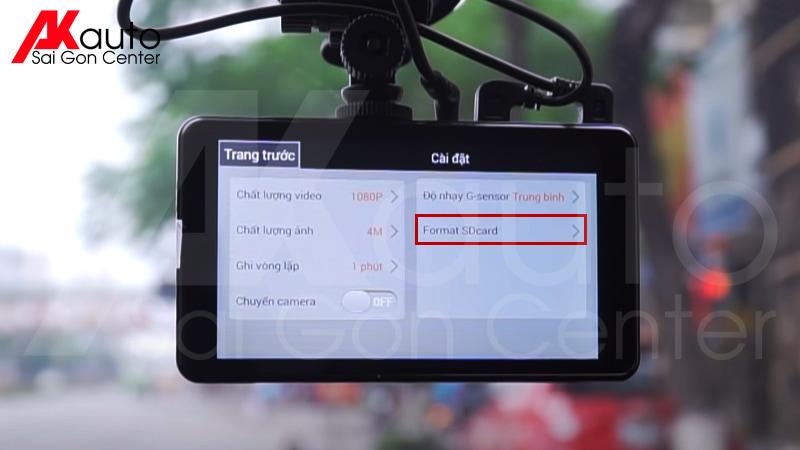 format thẻ nhớ trên camera hành trình