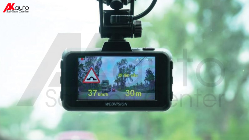 camera hành trình webvision cảnh báo tốc độ