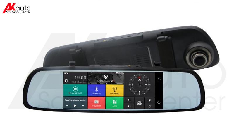 camera hành trình xe hơi Webvision M39 dạng gương