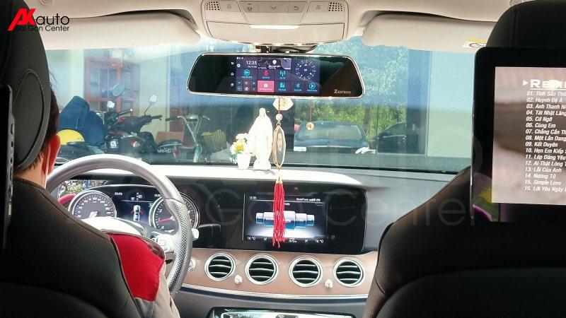 camera hành trình ốp gương xe ô tô