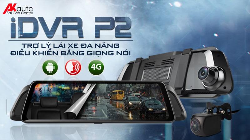 phiên bản camera hành trình ô tô dạng gương idvr p2