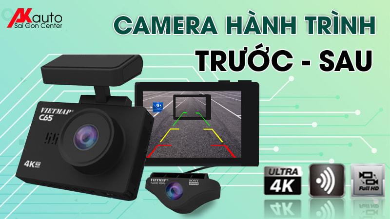 lắp camera hành trình 2 mắt trước sau xe ô tô