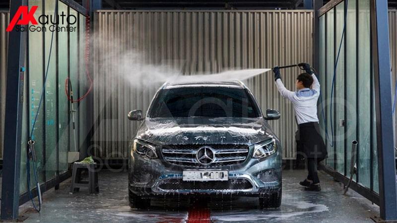 rửa xe ô tô, chăm sóc sau phủ ceramic