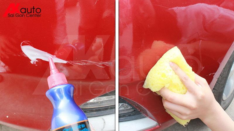 dung dịch xóa vết xước cho xe ô tô